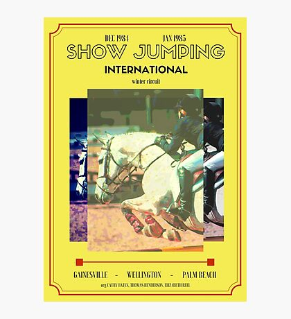International Show Jumping Dec 1984-Jan 1985 Photographic Print