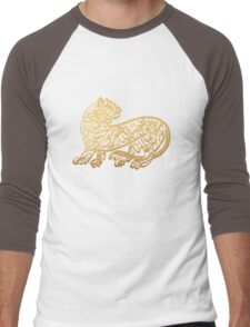 Tiger calligraphy | Globetrotter Men's Baseball ¾ T-Shirt