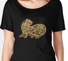 Tiger calligraphy | Globetrotter Women's Relaxed Fit T-Shirt