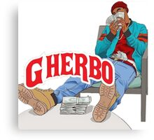 G HERBO HIPHOP VINTAGE SHIRT Canvas Print