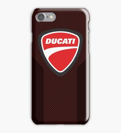 Ducati carbon fiber case iPhone Case/Skin