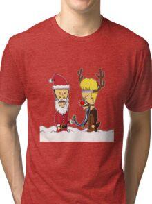 Beavis  & Butthead Christmas Tri-blend T-Shirt