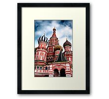 St Basils Cathedral in Moscow Russia art photo print Framed Print