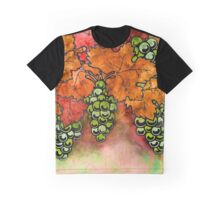 Green Grapes on the Vine - Vintage Wine Harvest - 2 in a series Graphic T-Shirt