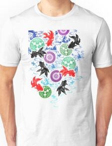 Kimono - Koi - White Unisex T-Shirt