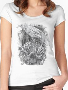 White Raven Women's Fitted Scoop T-Shirt