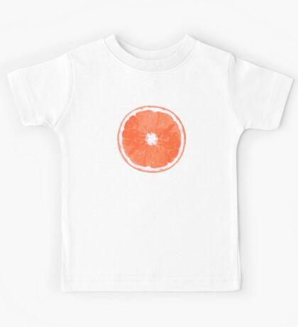 Pink Grapefruit Slice Digital Painting Kids Tee