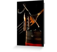 Lock My Forked Tongue Greeting Card