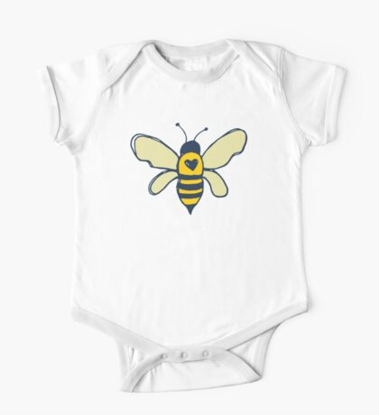 Bees and Flowers One Piece - Short Sleeve