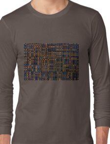 Wooden Seamless Texture - Pattern Design Long Sleeve T-Shirt