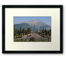 Downtown Banff  Framed Print