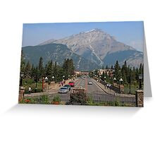 Downtown Banff  Greeting Card