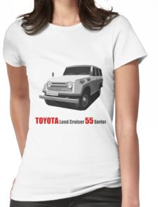 TOYOTA Land Cruiser 55 Series Womens Fitted T-Shirt
