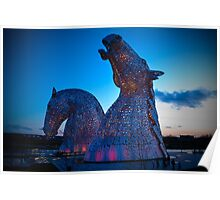 Kelpies in Red Poster