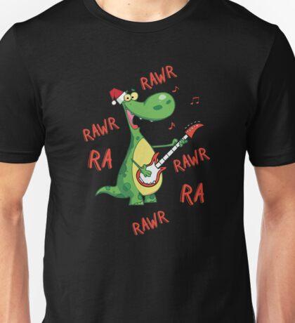 Singing Christmas Dinosauar Unisex T-Shirt