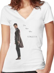 The Man Who Forgets Women's Fitted V-Neck T-Shirt