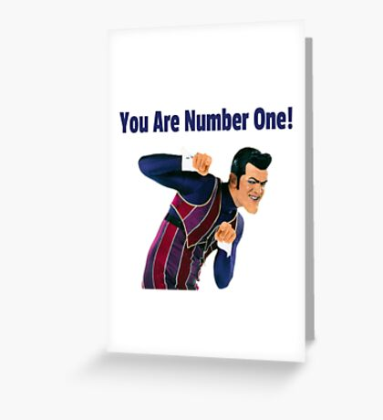 You Are Number One! Greeting Card