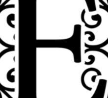 Letter E Monogram Sticker