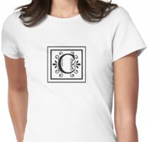 Letter C Monogram Womens Fitted T-Shirt