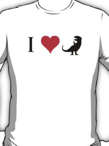 I Love Dinosaurs (small) T-Shirt