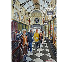 Shopping in Royal Arcade, Melbourne Photographic Print