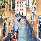 Venice gondolas 2 by Virginia  Coghill