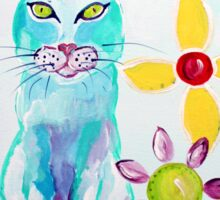 I See You - Cat Art by Valentina Miletic Sticker