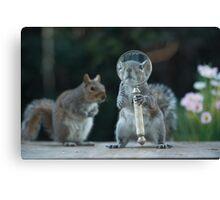 Squirrelisimo investigates inspector squirrel Canvas Print