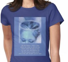 My Blue Heaven with Printed Poem Womens Fitted T-Shirt