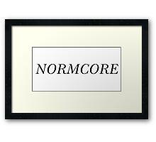NORMCORE [Black] Framed Print