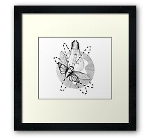 Moth to the Flame Framed Print