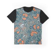 Rhino-Apple-Pattern Graphic T-Shirt