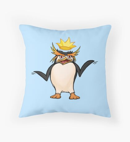 King Penguin - Royal Expression Throw Pillow