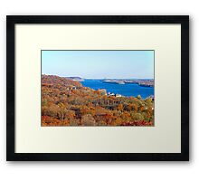 Mississippi Views from Grafton Bluffs  Framed Print