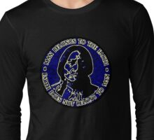 Sitting Bull Blue, Earth Does Not Belong To Man Long Sleeve T-Shirt