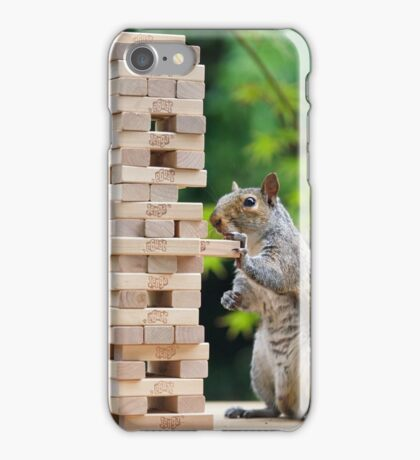 Squirrelisimo jenga peril iPhone Case/Skin