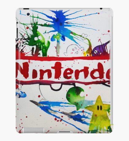 Nintendo Watercolor Splash Art iPad Case/Skin