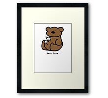 Bear Love . Framed Print