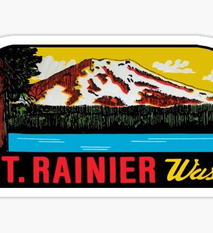 Mount Rainier Washington National Park Vintage Travel Decal 2 Sticker