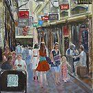Centre Way orange by Virginia  Coghill
