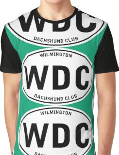 WDC Wilmington Dachshund Club (Euro Sticker Style) Graphic T-Shirt