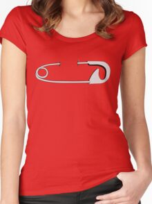 Piercing - safety pin Women's Fitted Scoop T-Shirt