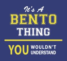 It's A BENTO thing, you wouldn't understand !! by satro