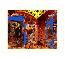 ☝ ☞ METEORITE HITS EARTH.. DESTRUCTION ☝ ☞ Art Print