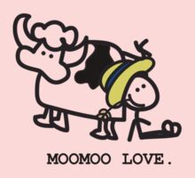 MooMoo Love - Who loves cows?  Kids Clothes