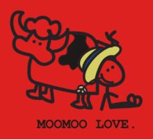 MooMoo Love - Who loves cows?  One Piece - Short Sleeve