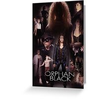 Orphan Black - In the Black Greeting Card
