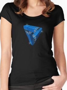 Escher Tardis Women's Fitted Scoop T-Shirt