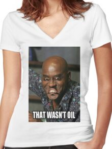 Ainsley Harriott - That Wasn't Oil Women's Fitted V-Neck T-Shirt