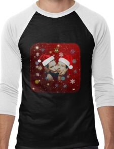 Xmas with Schmoopies Men's Baseball ¾ T-Shirt